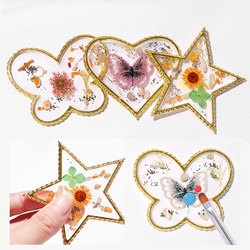 1pcs Agate Color Palette False Nail Tips Drawing Display Board Gold Edge Crystal Palette For Mixing Polish Resin Manicure Tools