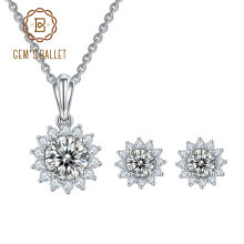Комплект сережек для женщин gem's ballet moissanite ожерелье