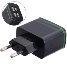 цена на Protable Quick Charge USB Chargering Adapter 5V 4A Power Plug EU Plug Travel Wall Phone Charger 4 Port Wall Travel Adapters