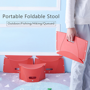 Portable Foldable Stool Folding Chair Seat Lightweight Travel outdoor fishing Chair Functional Hiking Bench Plastic Chairs(China)