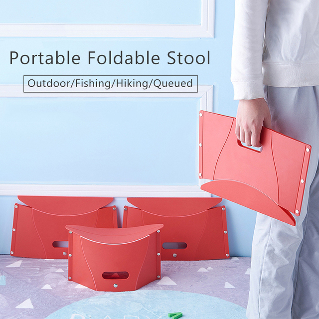 Foldable Stool Portable Folding Chair Lightweight Seat Travel Outdoor Fishing Chair Functional Hiking Bench Plastic Chairs