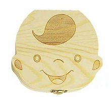 Wooden Men And Women Baby Deciduous Teeth Tooth Collection Box Professional Fashion Good Life
