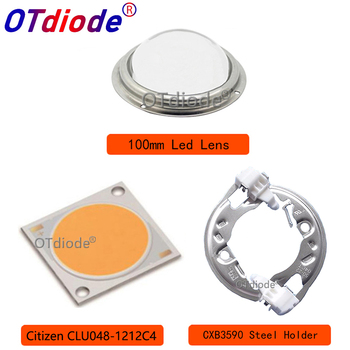 Citizen COB Series Version6 CLU048 1212 Ideal Holder Heatsink Meanwell Driver 100mm Glass Lens Replace CXB3590 Grow Led Diode