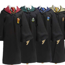Unisex Kids Adult Ravencalaw Slytherin Hufflepuff Magic School Robe Dress Women Girls Hermione Granger Halloween Costume