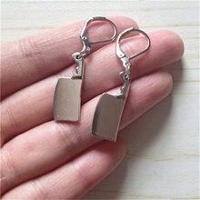 Мини Кливер Висячие левербэк серьги миниатюрные ручной работы
