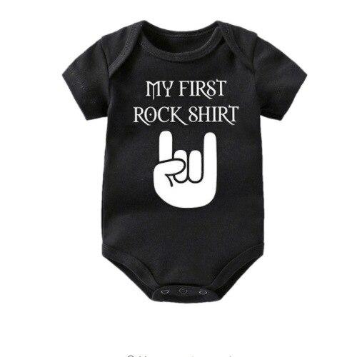 Моя первая футболки в стиле рок из штаны розового цвета с изображением для малышей, одежда для девочек, костюм для новорожденных, для малень...