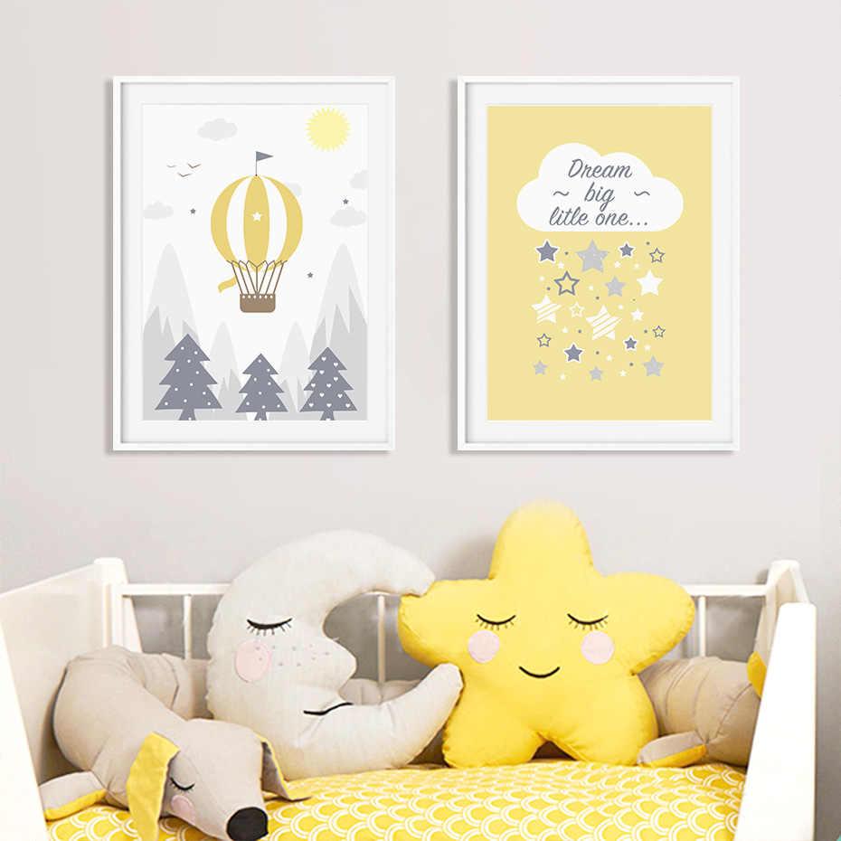 3 Mountain Adventure Dream Big Prints Posters Kid Room Nursery Wall Art Decor