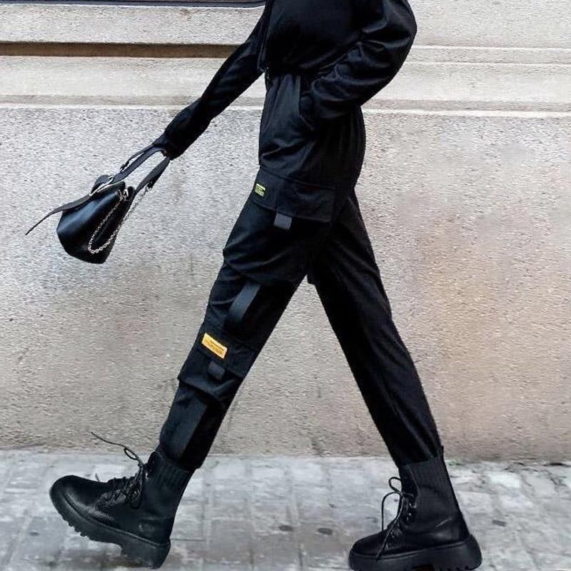 Cargo Pants Women High Wasit Plus Size Harajuku Korean Harem Pants Black Slim Joggers Summer Capris Trousers Streetwear
