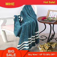 MIHE Chenille Blanket Travel Blanket Fringed Blanket Sofa Air Conditioning Blanket Christmas Decoration A TZ06