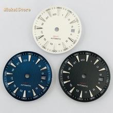 Relógio azul esterilizado preto 1 peça, indicador de relógio eta eta 2836/2824 dg2813/3804 miyota 8215 821a 8205 movimento automático p951