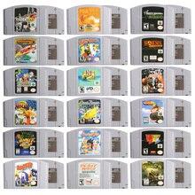 64 бита картридж для видеоигр, игровая консоль, картридж с червями, Armageddon, английская версия для США для Nintendo