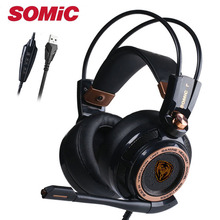 Gaming Headphone Headset Earphones USB with Mic Microphone P