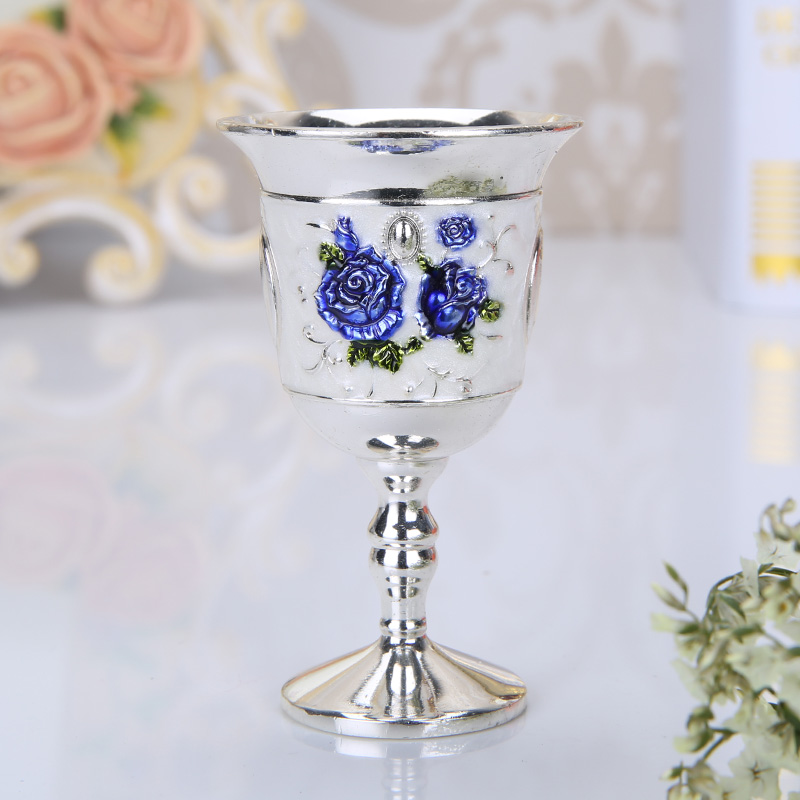 European Muslim Metal Hanging Sherbet Rack Crystal Shot Sherbet Cup Holder Fashion Exquisit Castle pattern  cup table decoration