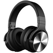 كوين E7 pro [ترقية] نشط الضوضاء إلغاء بلوتوث سماعات على الأذن العميق باس اللاسلكية سماعة ايفي الصوت الأيدي الحرة