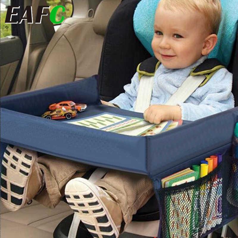 รถที่นั่งเด็กถาดรถเข็นเด็กของเล่นเด็กอาหารผู้ถือโต๊ะกันน้ำเด็กแบบพกพาสำหรับรถเด็กใหม่ตารางเก็บ