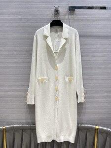 2020 новый осенне-зимний однобортный Кардиган с лацканами, вязаный свитер, пальто для женщин, бесплатная доставка