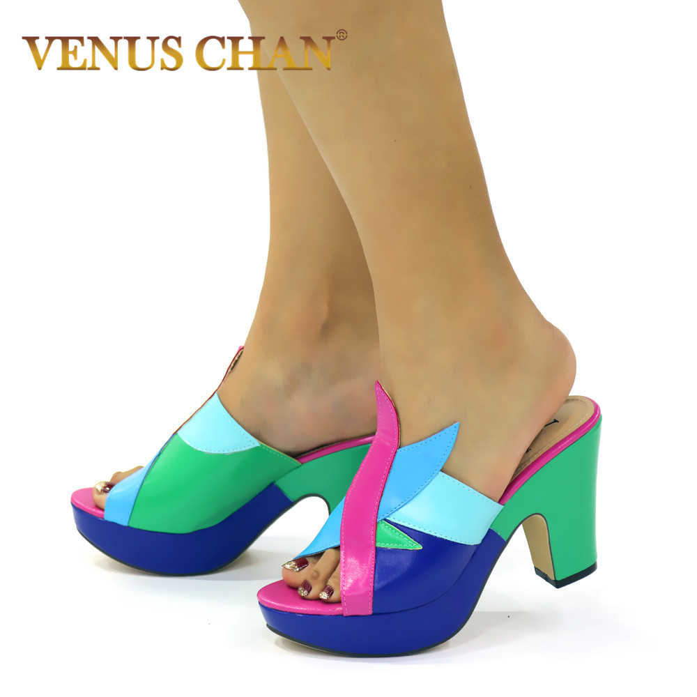 New Arrivals Fashion High Heels Party Dress Top Brand High Quality PU Leather Summer Sandals Thin Heeled Slippers Woman
