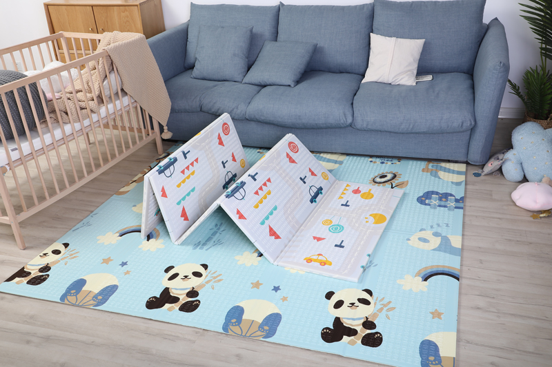 H2d58c4956224475387c7aa03568fc259p 200*180cm  Foldable Cartoon Baby Play Mat Xpe Puzzle Children's Mat Baby Climbing Pad Kids Rug Baby Games Mats