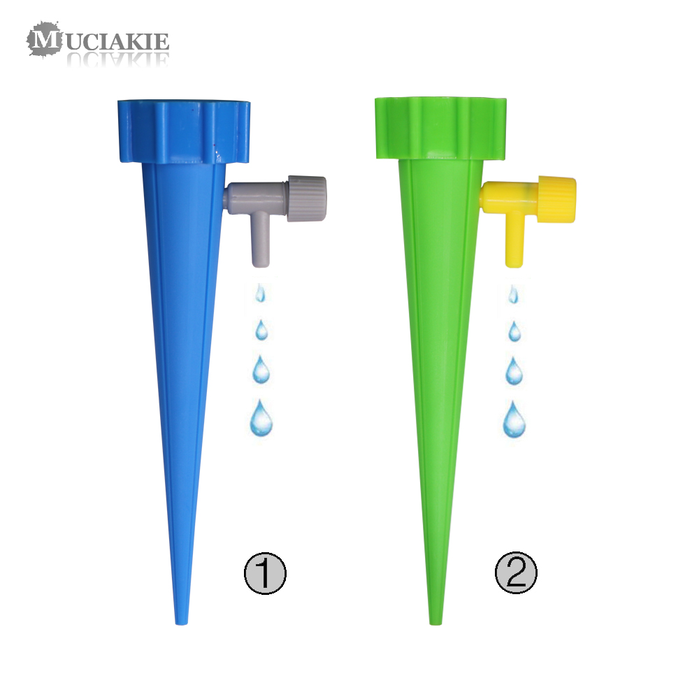 MUCIAKIE 1PC Adjustable Dripper On Stake Automatic Drop Watering Irrigation Device Spike For Home Bonsai Plants Garden Succulent