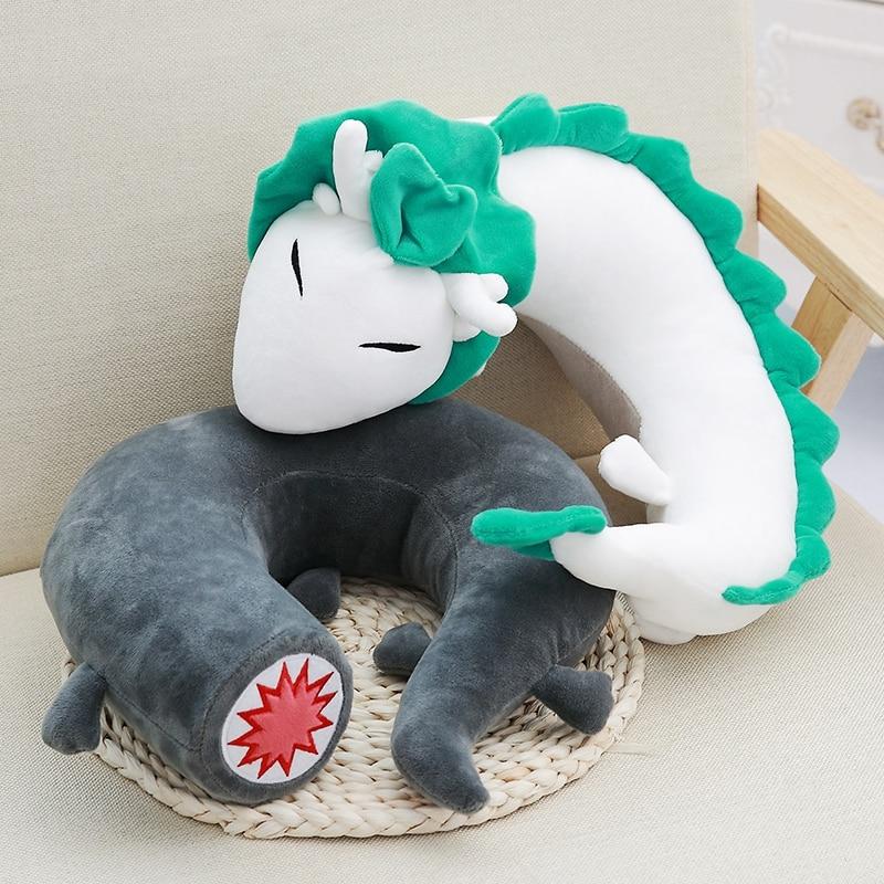 Creative Anime Miyazaki Hayao Spirited Away Haku U Shape Pillow Cartoon Cute Doll Kid Toy