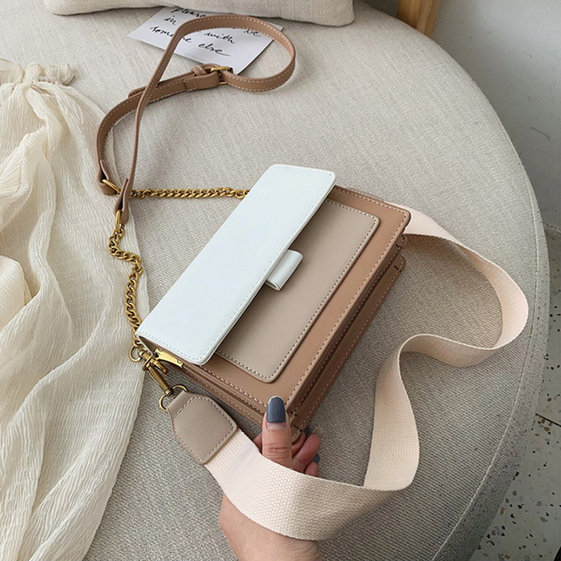 SHUJIN Leather Crossbody Bags For Women 2020 Travel Handbag Fashion Simple Shoulder Messenger Bag Ladies Cross Body Bag