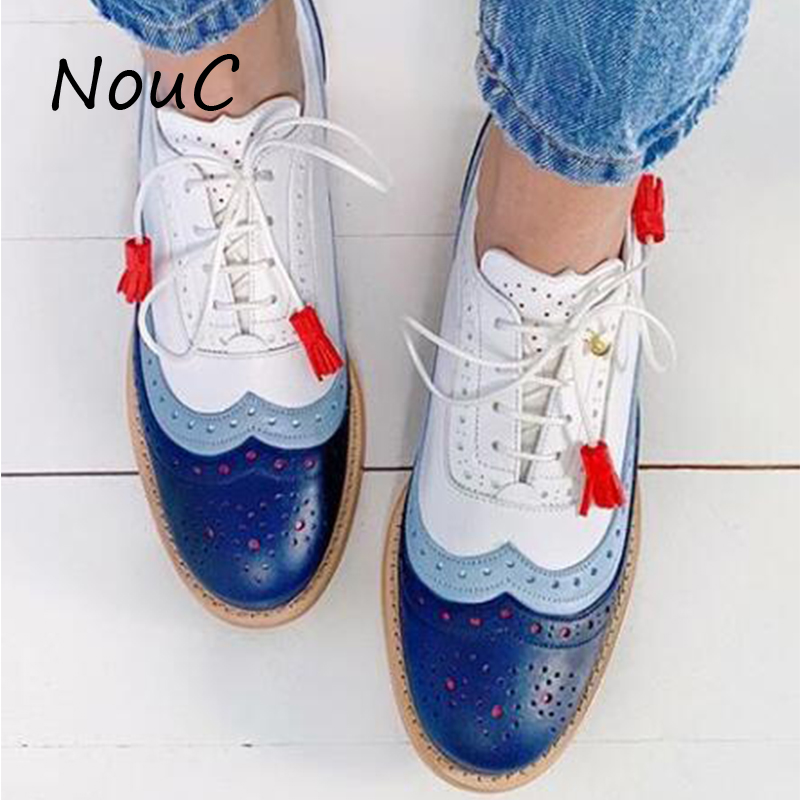Women Oxford Spring Shoes Genuine Leather Loafers For Woman Sneakers Female Oxfords Ladies Tassel Single Shoes 2020 Summer Shoes