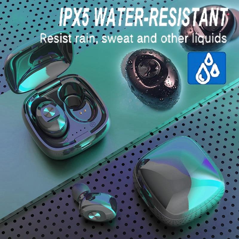 5,0 настоящие Bluetooth наушники-вкладыши IPX5 3D TWS беспроводные наушники водонепроницаемые спортивные наушники с зарядным боксом стерео наушники ...