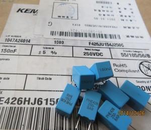 Image 1 - 20 шт., конденсатор KEMET RIFA PHE426 0,15 мкФ/250 В, 5 мм, MKP 154/250 В, аудио, синяя пленка, конденсатор 426 150NF 250VDC 154 0,15 мкФ