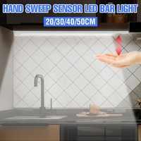 Lámpara de inducción inteligente de barrido manual, 5V, luz LED para armario, USB, 20/30/40/50cm, de alto brillo, para cocina, dormitorio, armario