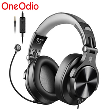 Oneodio A71D Wired Gaming Headphones Over-Ear Stereo Headset Gamer With Detachable Microphone For Center Calling PC PS4 Phone