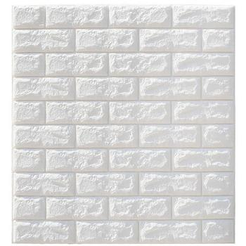 70x77cm New Style 10 Pieces 3D Brick Wallpaper Removable Peal and Stick PE Foam Wall Sticker for Living Room Home Office