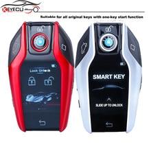 Zmodyfikowany butik KEYECU Smart 4B obudowa pilota z kluczykiem samochodowym z ekranem LCD do BMW mercedes-benz Buick Audi Cadillac Lexus (bez OBD)