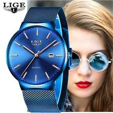 LIGE Womens Watches Top Brand luxury Ana