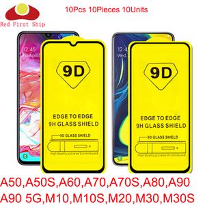 Image 1 - 10Pcs 9D Tempered Glass For Samsung Galaxy A50 A50S A60 A70 A70S A80 A90 5G screen Protector M10 M10S M20 M30 cover film Movie