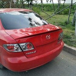 Dla Mazda 6 2006-2014 dekoracja samochodu ABS farba z tworzywa sztucznego malowanie kolor tylny spojler bagażnika