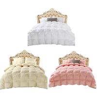 Home Hotel 4d Luxury Goose Down Duvet Core Quilted Quilt King Queen Full Size Comforter Winter Thick Blanket Solid Color 4