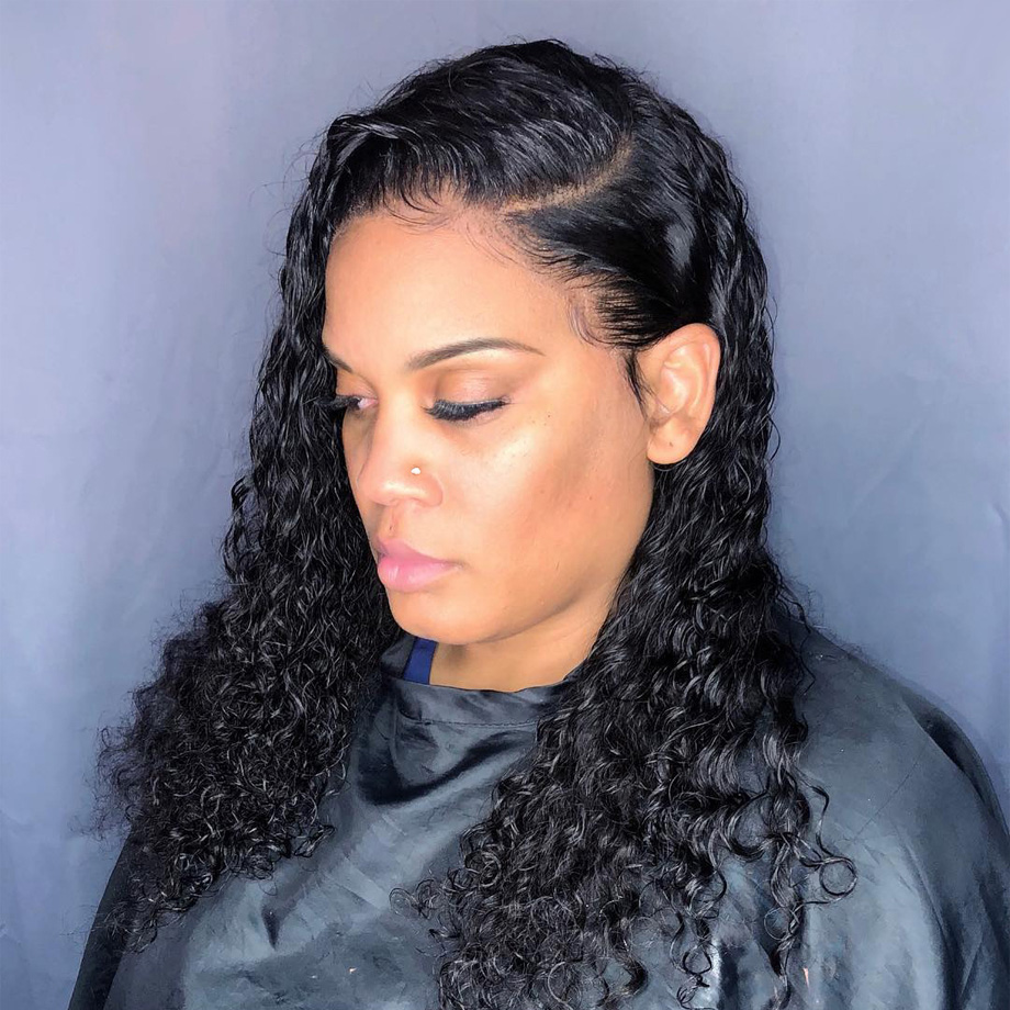 Water Wave 13*4 Lace Front  Wigs 180% Density Arabella  PrePlucked Lace Frontal Wig With Baby Hair Lace Front Wig 3