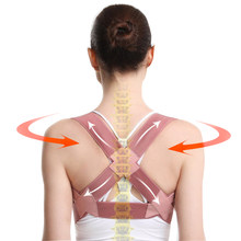 Invisible back posture corrector ajustável back brace suporte cinto coluna traseira ombro postura lombar correção para mulher