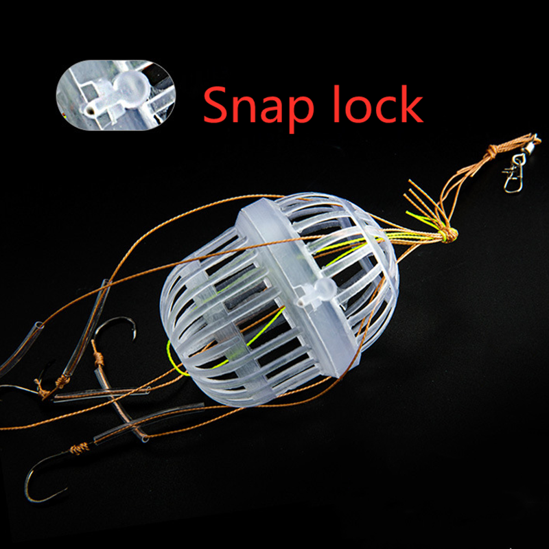 Hot Explosion Fishing Hooks Spherical Sea Box Monsters With Six Strong Carbon Steel Fishing Feeder Jig Head Accessories