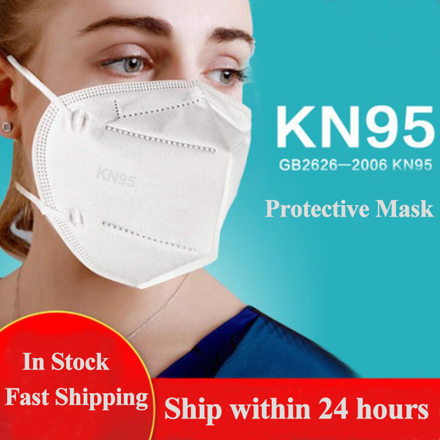 50PCS Mask KN95 Face Mask Dustproof Anti-fog And Breathable Disposable KN95 Mask Safety Protective Masque KN95 Mouth Mask White