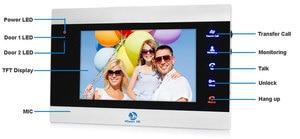 Image 3 - New 7 inch Video Doorbell Monitor Intercom With RFID Key Outdoor Camera Door Phone Intercom System Remote control Door Lock