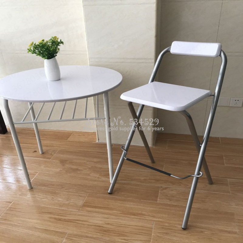 21%New European Folding Bar Chair High Bar Chair Fishing Chair Outdoor Folding Fishing Chair