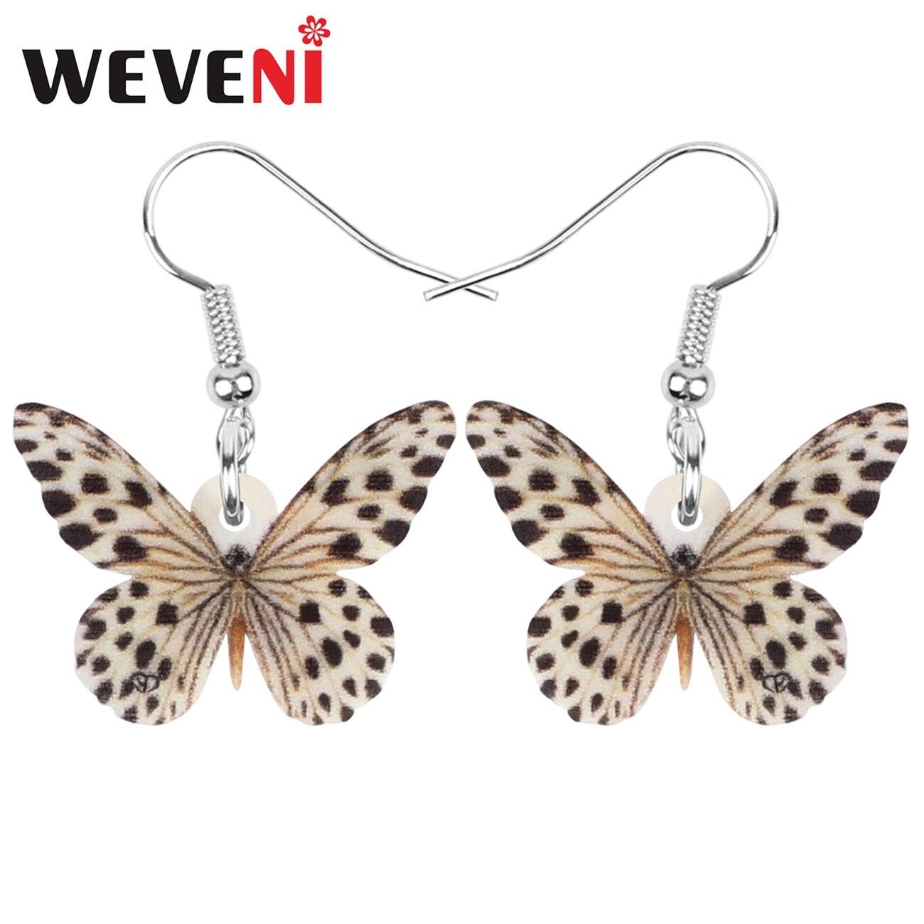 акриловые точечные серьги-Бабочки Монарх большое насекомое животное Висячие ювелирные изделия для женщин Дети Весна классический подарок ...