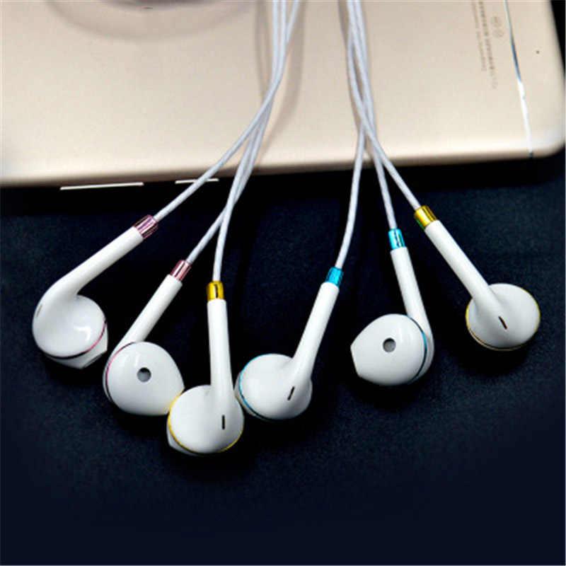 Inteligentne 3.5mm douszne słuchawki przewodowe Bass sportowe słuchawki douszne z regulacją głośności MIC MP3 mp4 dla Xiaomi iPhone Samsung ps4 złoty zestaw słuchawkowy