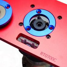 Placa de inserción de mesa enrutadora de aleación de aluminio, con anillo para bancos de madera RT0700C, A5YD