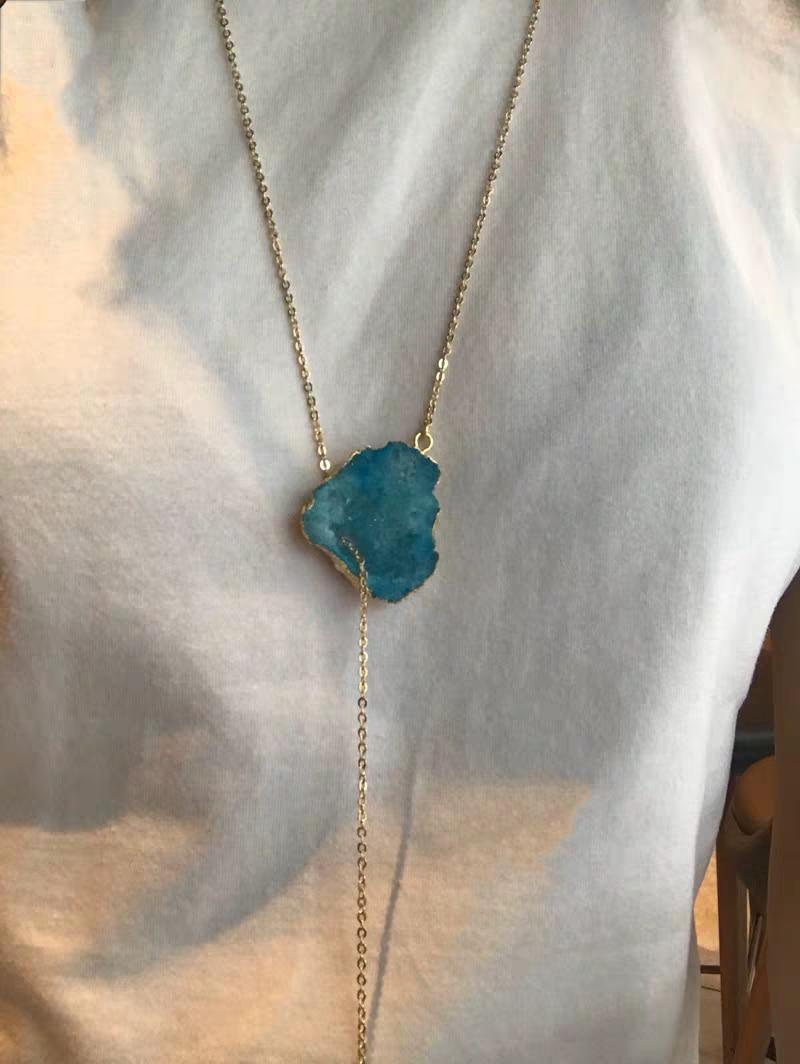 Μενταγιόν μπλε χαλαζία msow