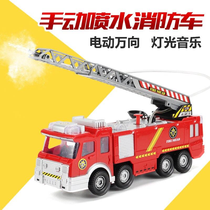 Fireman Sam Toy Jupiter No. Fire Truck Electric Universal Toy Car Light Fire Truck-Water Spouting