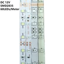 Водонепроницаемая светодиодная лента RGB 1 м, 2 м, 3 м, 4 м, 5 м, 2835, 12 В постоянного тока, 60 светодиодов/м, гибсветильник световая лента, лента, бела...
