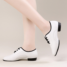 USHINE BD-A1 new white heel 2.5cm workout Jazz Fitness Zapatos De Baile Latino Mujer ballet Latin Ballroom dance shoes women