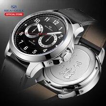 النورس ساعة رجالي موضة مضيئة العلامة التجارية الجديدة متعددة الوظائف 100 متر مقاوم للماء التلقائي الميكانيكية ساعة رجالي R1927